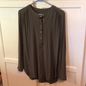 Ann Taylor Loft Olive Green Tunic Top Size Small
